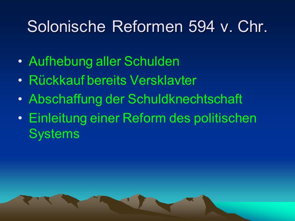 Die Verfassung des Solon 594 v.