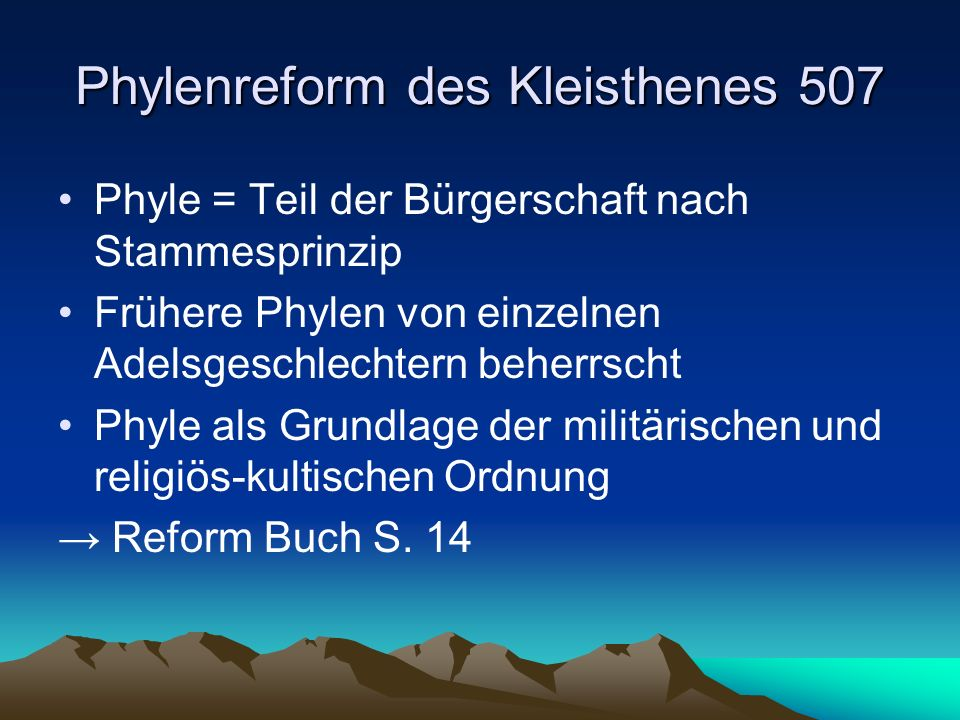 Die Verfassung des Kleisthenes 507 v.