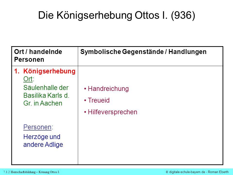 7.1.2 Herrschaftsbildung – Könung Ottos I.© digitale-schule-bayern.de - Roman Eberth 2.