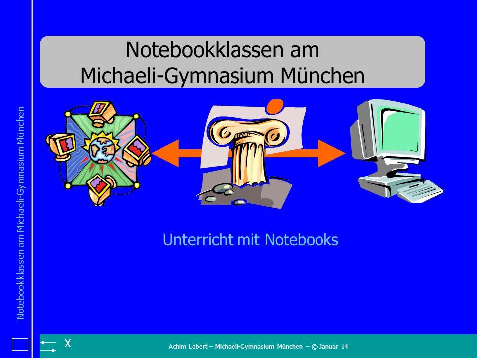 Achim Lebert – Michaeli-Gymnasium München – © Januar 14 Notebookklassen am Michaeli-Gymnasium München X Unterricht mit Notebooks