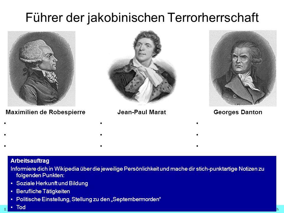 8.1.1 Französische Revolution – Terrorherrschaft© digitale-schule-bayern.de - Roman Eberth Vor dem Revolutionstribunal ??.