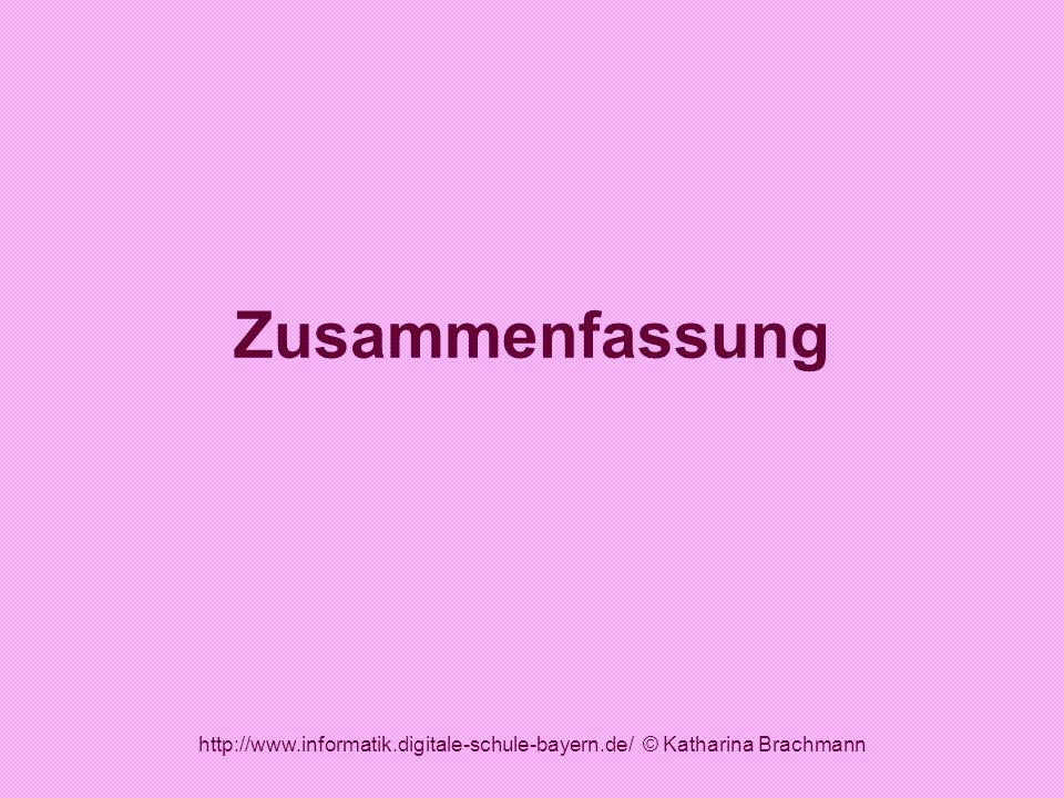 http://www.informatik.digitale-schule-bayern.de/ © Katharina Brachmann Zusammenfassung