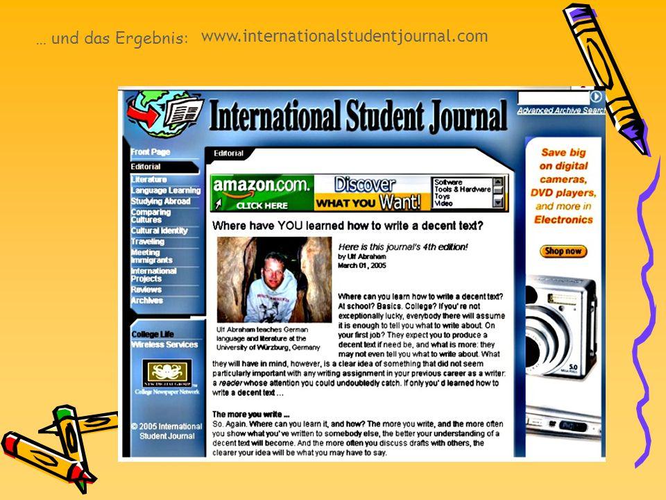 www.internationalstudentjournal.com … und das Ergebnis: