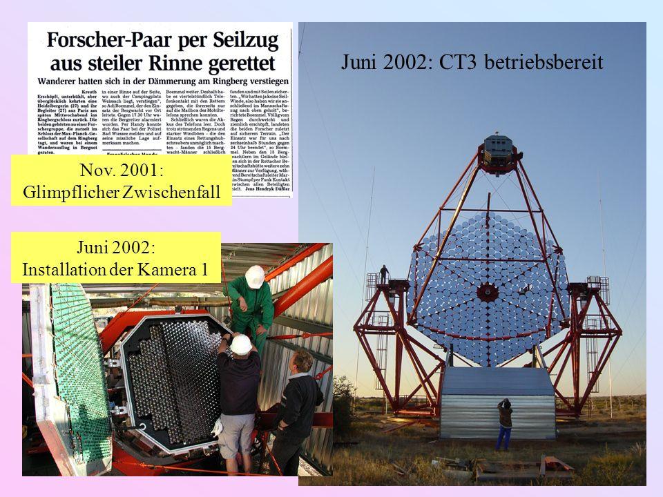 Juni 2002: CT3 betriebsbereit Nov.