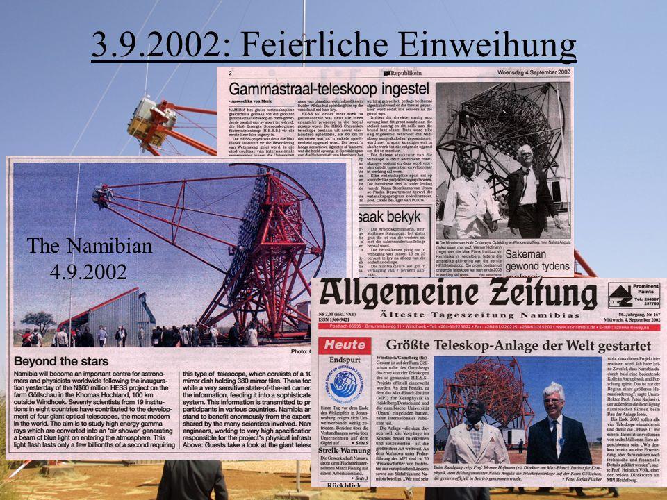 3.9.2002: Feierliche Einweihung The Namibian 4.9.2002