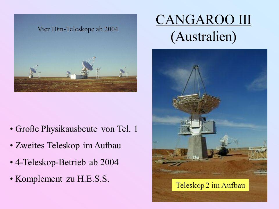 CANGAROO III (Australien) Große Physikausbeute von Tel.