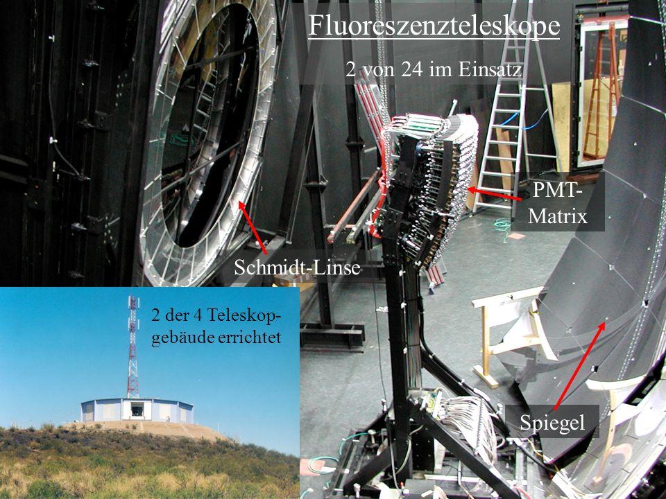 Fluoreszenzteleskope 2 von 24 im Einsatz 2 der 4 Teleskop- gebäude errichtet Schmidt-Linse Spiegel PMT- Matrix