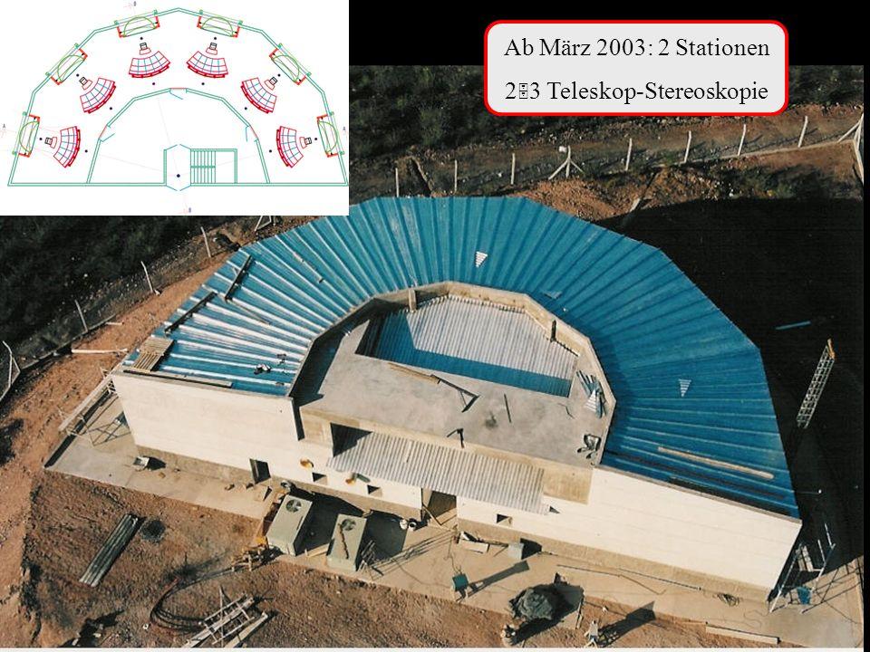 Ab März 2003: 2 Stationen 2 3 Teleskop-Stereoskopie