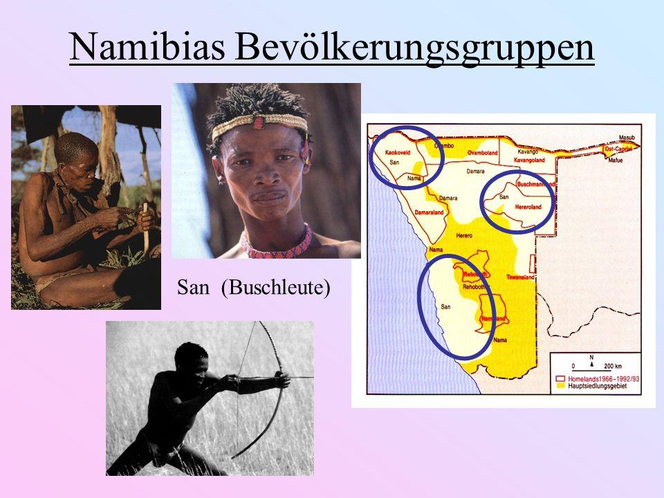 Namibias Bevölkerungsgruppen San (Buschleute)