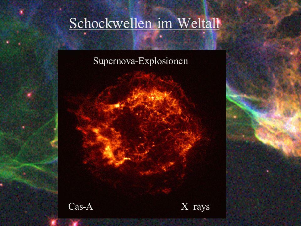 Schockwellen im Weltall Supernova-Explosionen Cas-AX rays