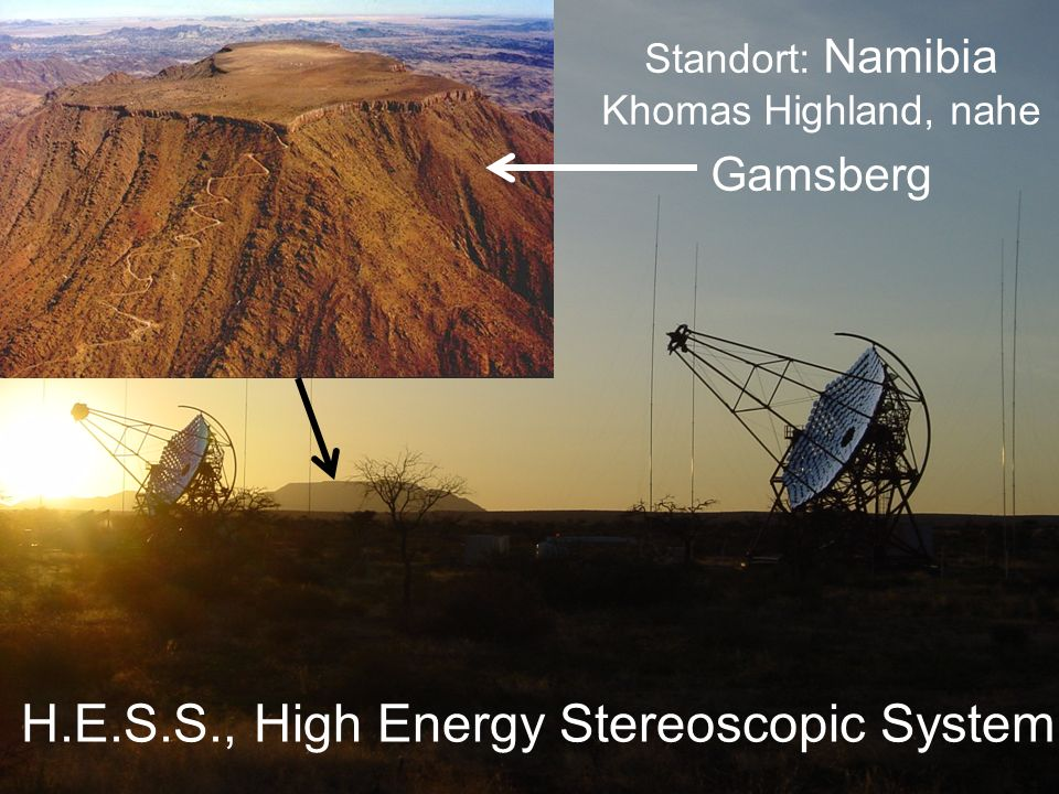 Cherenkov Telescope Array (AG Lohse, Maier) 50-80 Teleskope arbeiten in Koinzidenz 10mal sensitiver als HESS/MAGIC/VERITAS erweiterter Energiebereich: 10 GeV bis >200 TeV gemeinsame Arbeitsgruppe HU/DESY