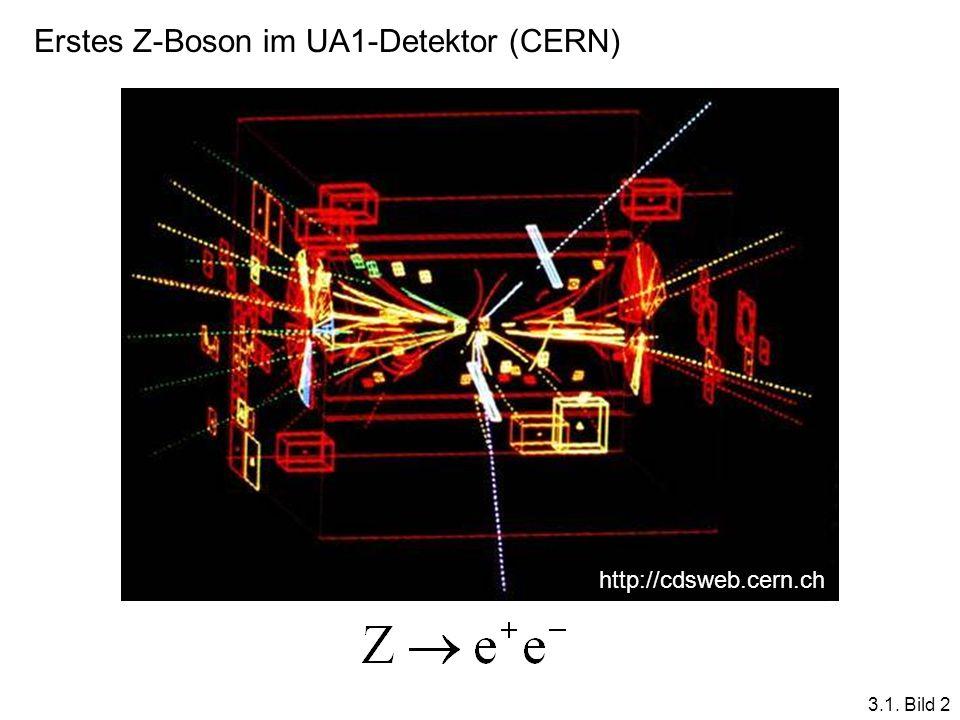 Erstes Z-Boson im UA1-Detektor (CERN) http://cdsweb.cern.ch 3.1. Bild 2