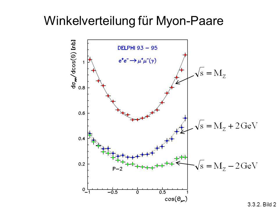Winkelverteilung für Myon-Paare 3.3.2. Bild 2
