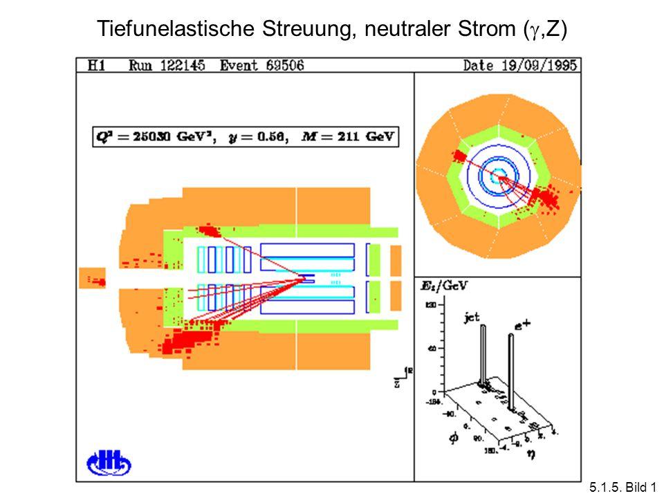 Tiefunelastische Streuung, neutraler Strom (,Z) 5.1.5. Bild 1