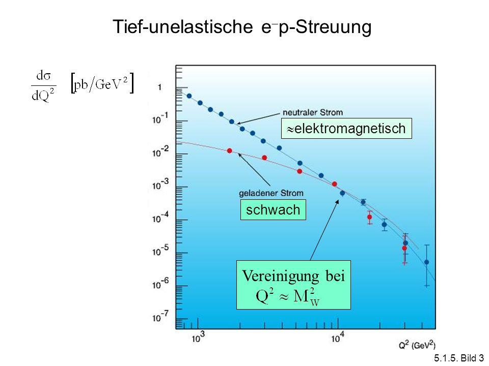 elektromagnetisch schwach Vereinigung bei Tief-unelastische e p-Streuung 5.1.5. Bild 3