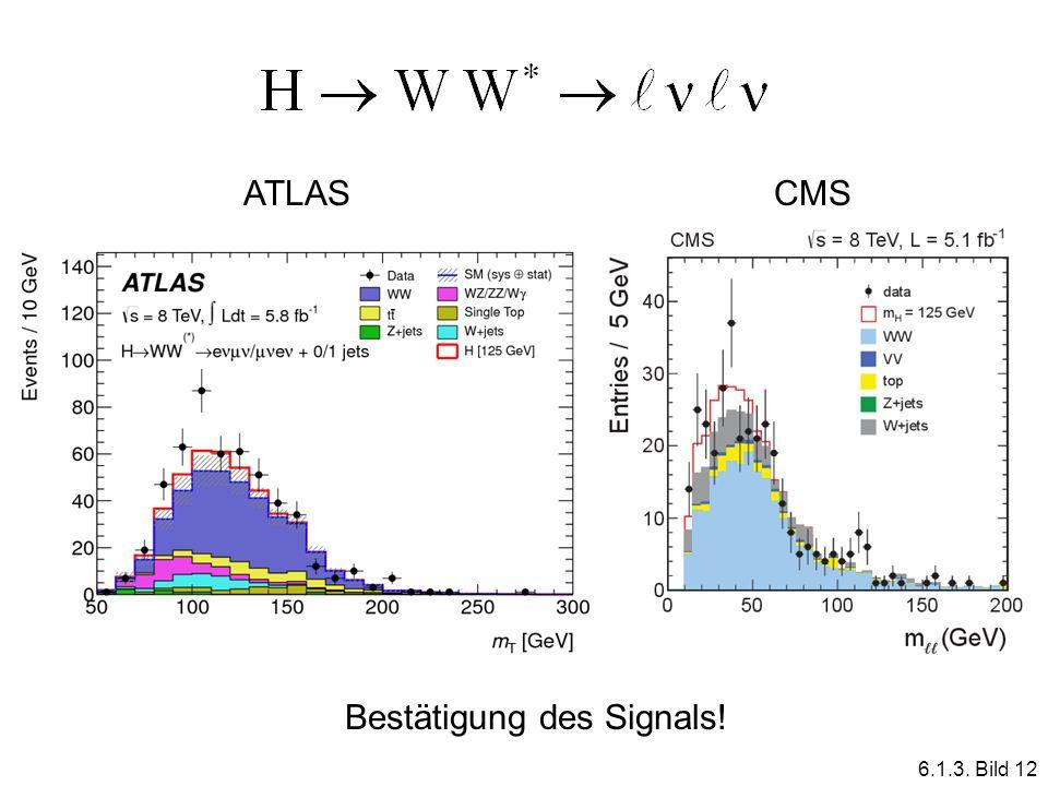 ATLASCMS Bestätigung des Signals! 6.1.3. Bild 12