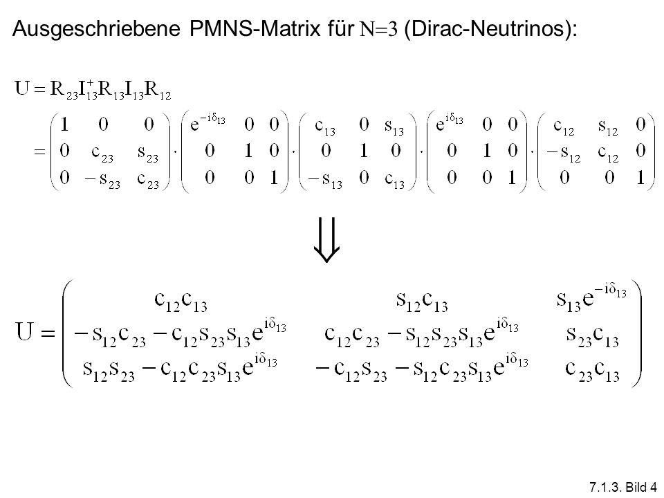 7.1.3. Bild 4 Ausgeschriebene PMNS-Matrix für N 3 (Dirac-Neutrinos):