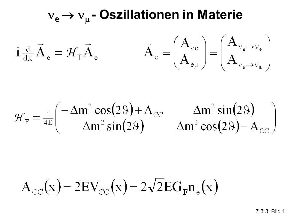e - Oszillationen in Materie 7.3.3. Bild 1