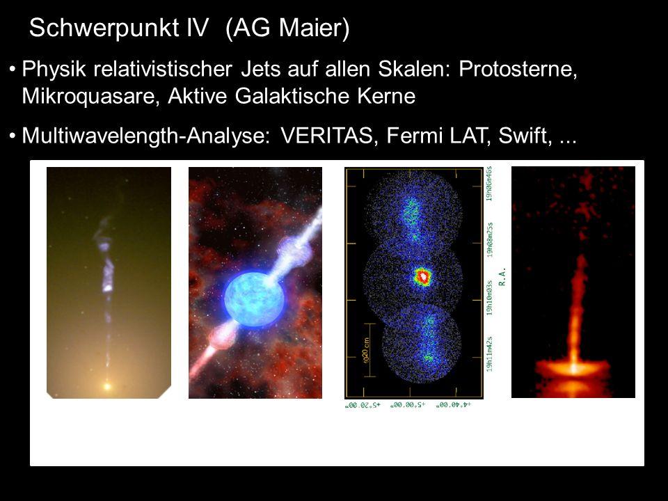 Physik relativistischer Jets auf allen Skalen: Protosterne, Mikroquasare, Aktive Galaktische Kerne Multiwavelength-Analyse: VERITAS, Fermi LAT, Swift,