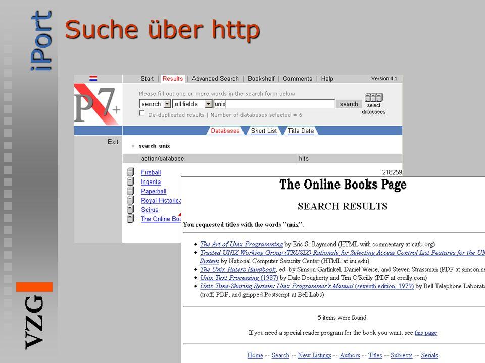 iPort VZG http://www.gbv.de Suche über http