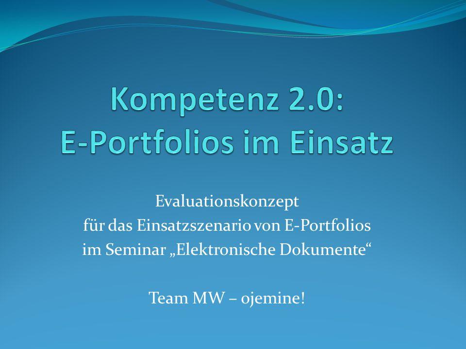 Zentrale Fragestellungen Welche Erwartungen haben Nutzer / Lerner an ein E-Portfolio.