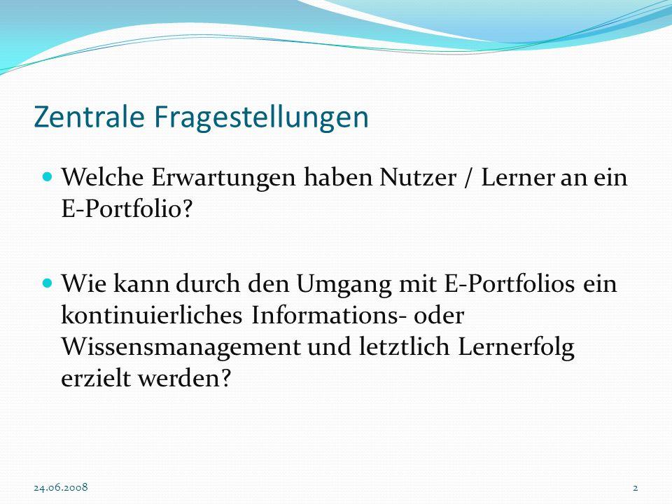 Evaluand/ Evaluationsgegenstand Die Erwartungshaltung eines Nutzers im Bezug auf den Einsatz des E-Portfolio als PLE Der Lernerfolg als unmittelbares Ergebnis aus der Nutzung von E-Portfolios.