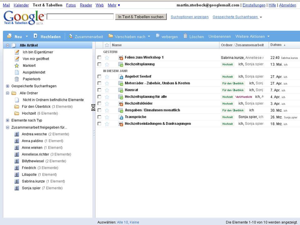 Wissensmanagement 2.0 · Social Collaborating Google Docs