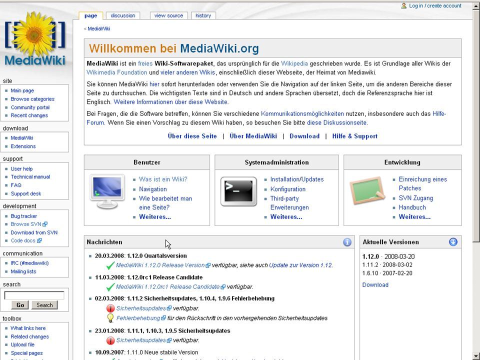 Wissensmanagement 2.0 · Social Collaborating Mediawiki