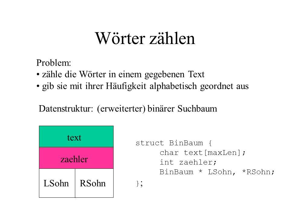 Punkte: Benutzung von Dateien: wie Standard Ein-/Ausgabe ifstream : Eingabe, ofstream : Ausgabe Bindung von Datei-Variablen an Dateien beim Öffnen.