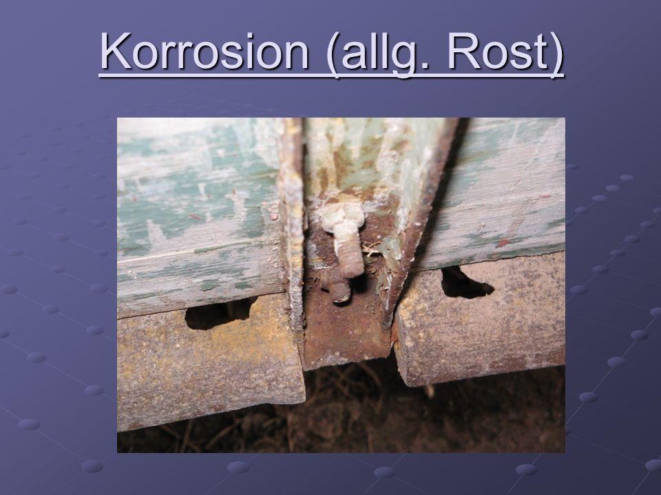 Elektrochemische Korrosion Lokalelemente elektrochemische Sauerstoffkorrosion feuchter Stahloberflächen