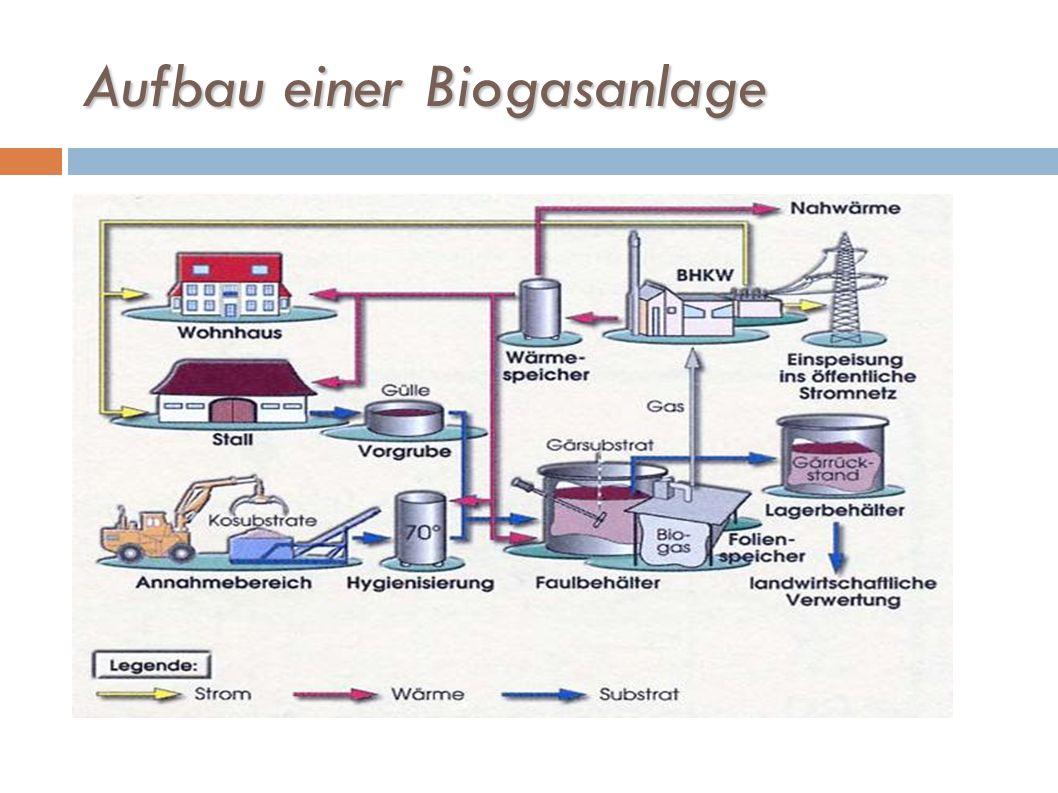 Wirtschaftlichkeitsberechnung Eine Biogasanlage benötigt: Anbaufläche (ca.