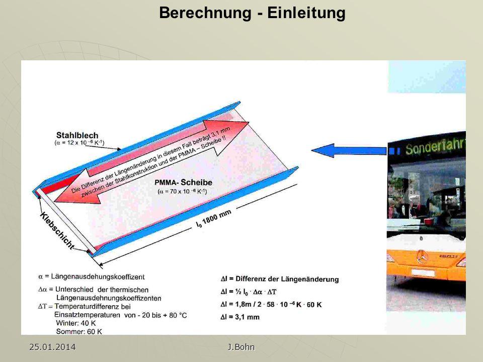 Berechnung - Einleitung25.01.2014 J.Bohn