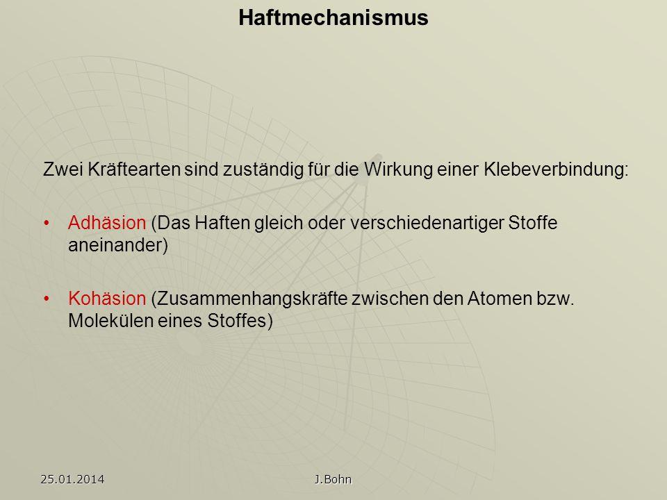 Vergleich der Verbindung Spannungsverteilung Vor- und Nachteile 25.01.2014 J.Bohn