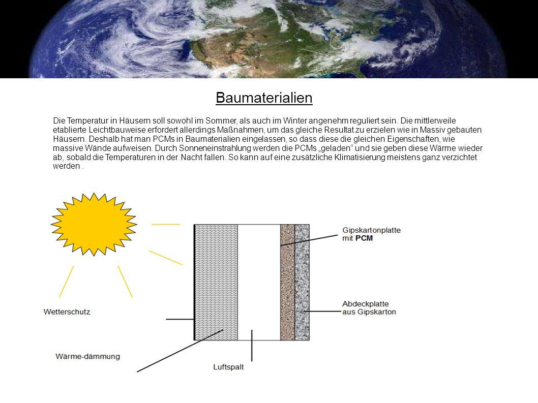 Baumaterialien Die Temperatur in Häusern soll sowohl im Sommer, als auch im Winter angenehm reguliert sein. Die mittlerweile etablierte Leichtbauweise