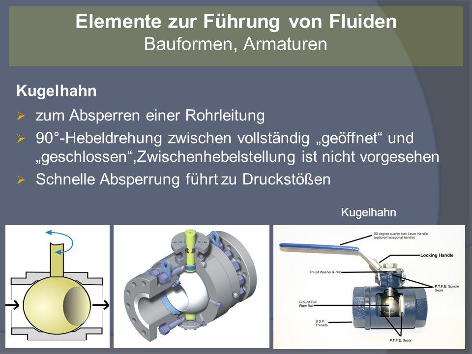 Kugelhahn zum Absperren einer Rohrleitung 90°-Hebeldrehung zwischen vollständig geöffnet und geschlossen,Zwischenhebelstellung ist nicht vorgesehen Sc