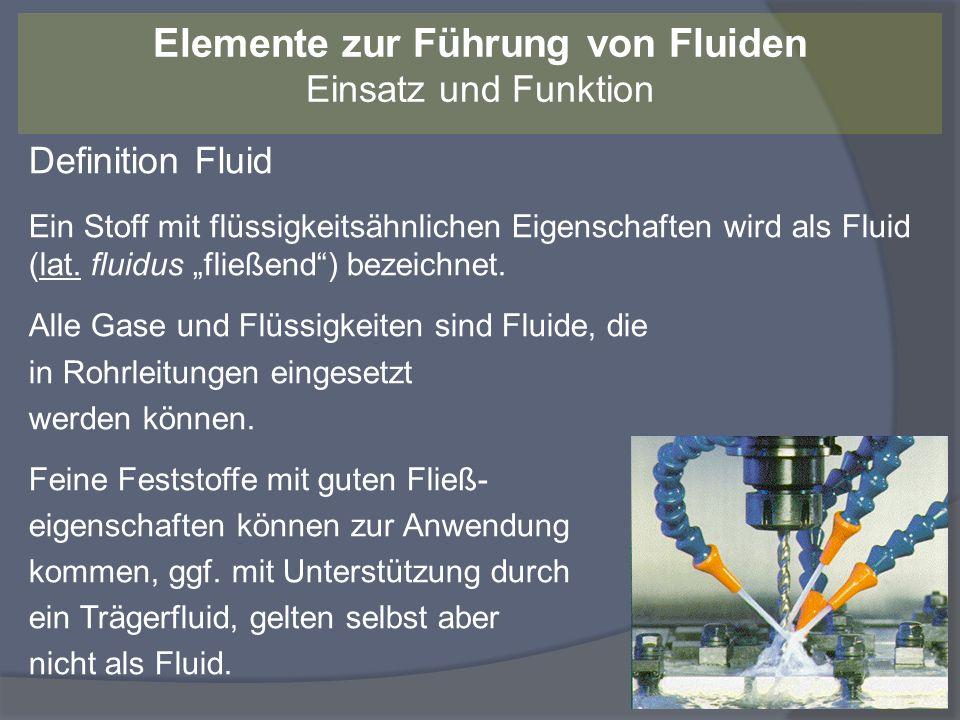 Definition Fluid Ein Stoff mit flüssigkeitsähnlichen Eigenschaften wird als Fluid (lat. fluidus fließend) bezeichnet. Alle Gase und Flüssigkeiten sind