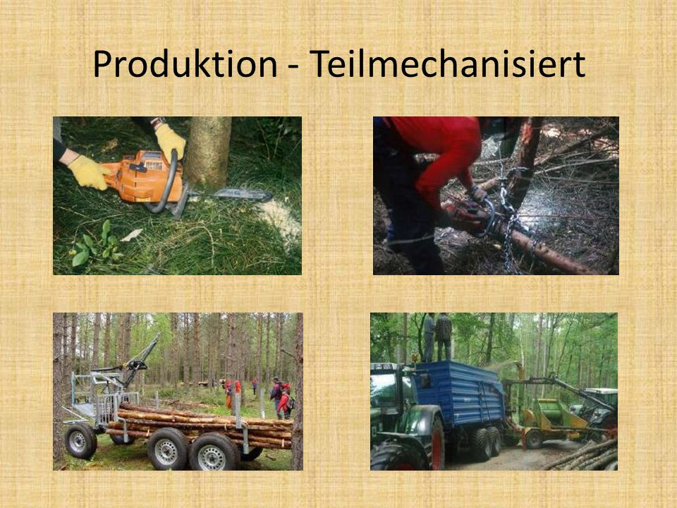 Produktion - Teilmechanisiert