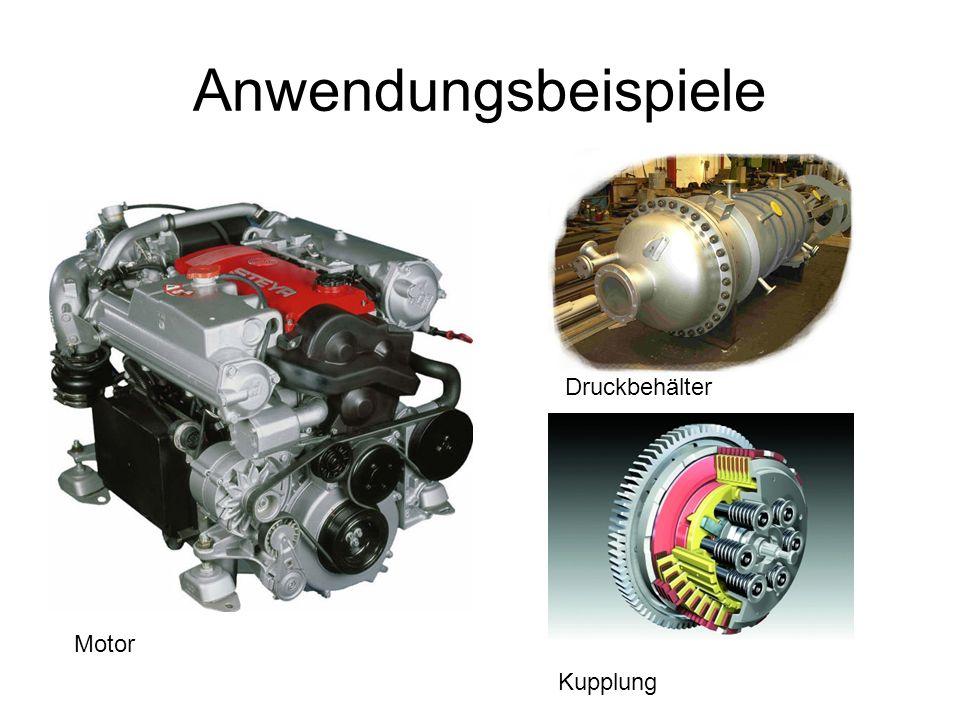 Anwendungsbeispiele Druckbehälter Kupplung Motor