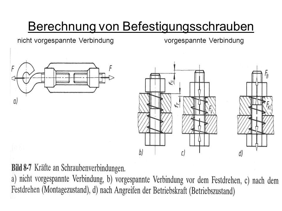 Montagevorspannkraft, Anziehfaktor und -verfahren Montagewerkzeug Ein Maß für die Streuung der Vorspannkraft ist der Anziehfaktor k A : Experimentell ermittelte werte können der TB 8-11 entnommen werden.