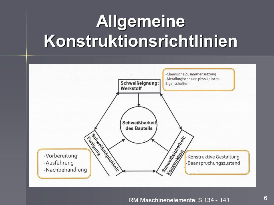 Allgemeine Konstruktionsrichtlinien 6 RM Maschinenelemente, S.134 - 141