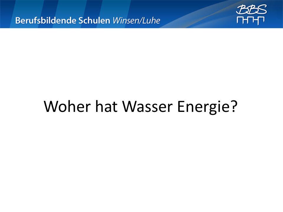Woher hat Wasser Energie?