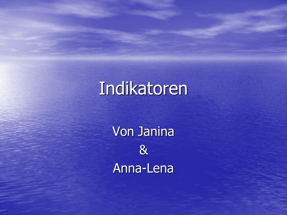 Indikatoren Von Janina &Anna-Lena