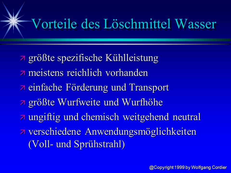 @Copyright 1999 by Wolfgang Cordier Löschmittel Wasser