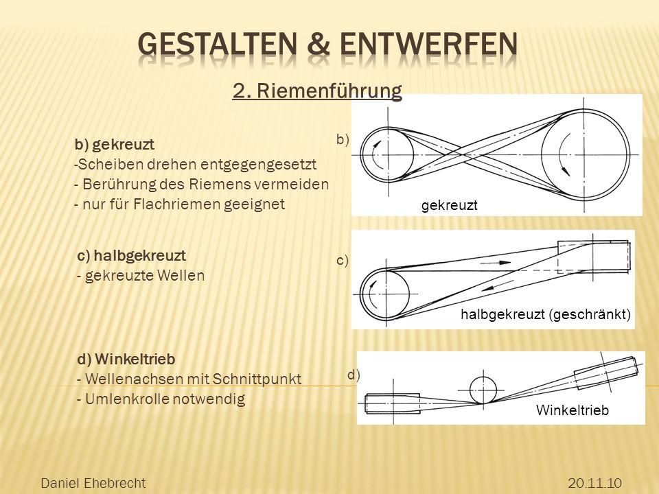 Daniel Ehebrecht20.11.10 b) c) d) gekreuzt halbgekreuzt (geschränkt) Winkeltrieb 2.