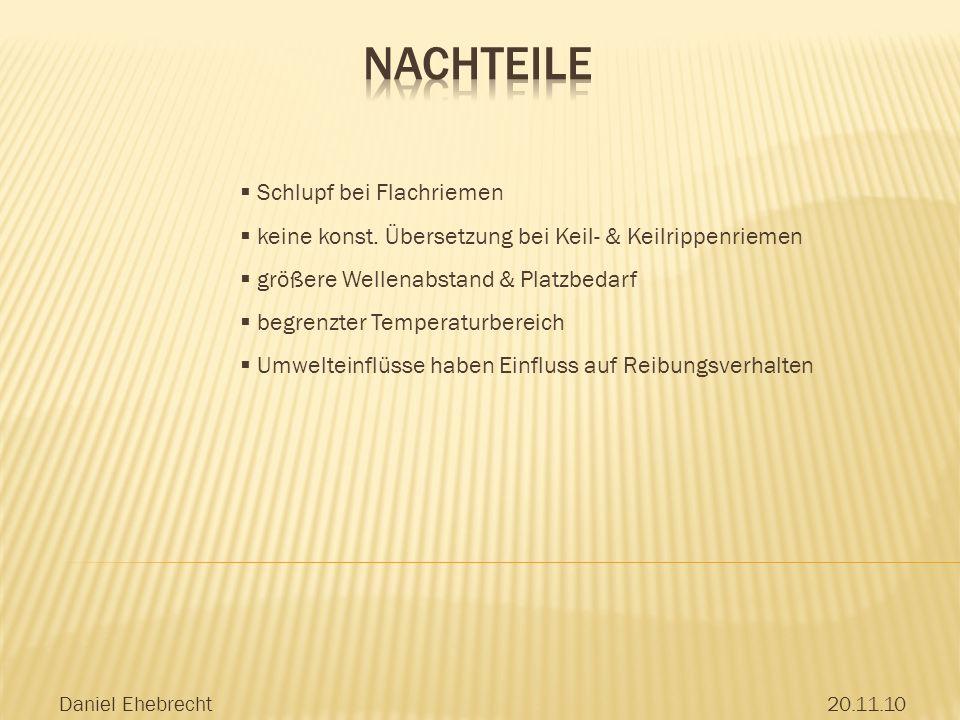 Daniel Ehebrecht20.11.10 Schlupf bei Flachriemen keine konst.