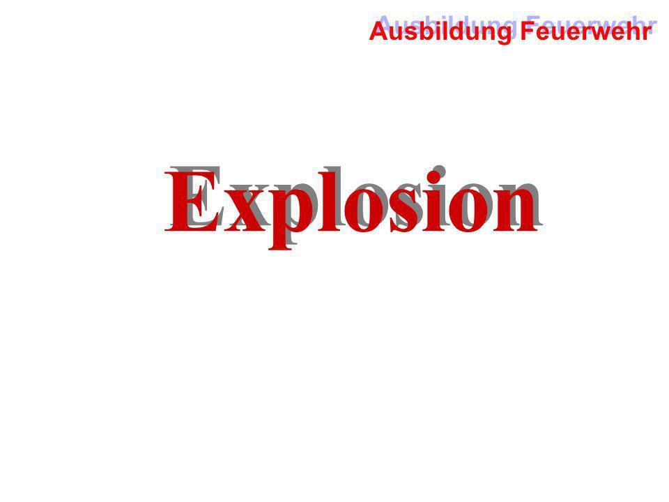 Ausbildung Feuerwehr Explosion