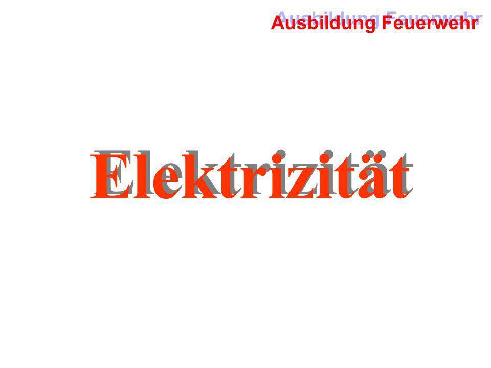 Ausbildung Feuerwehr Elektrizität
