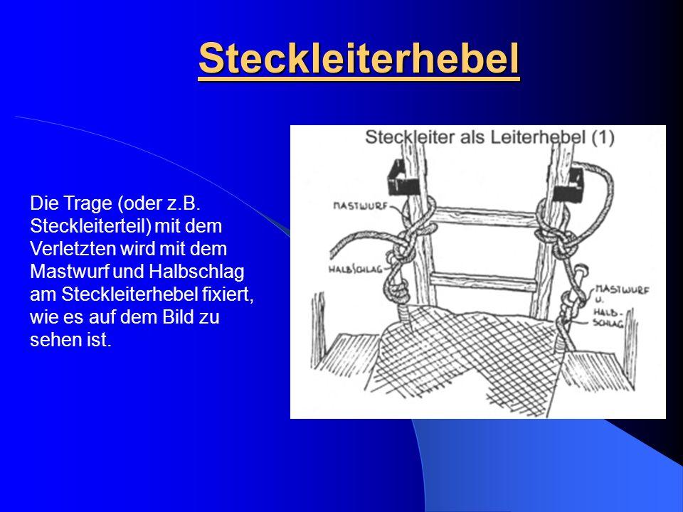 Steckleiterhebel Die Trage (oder z.B.