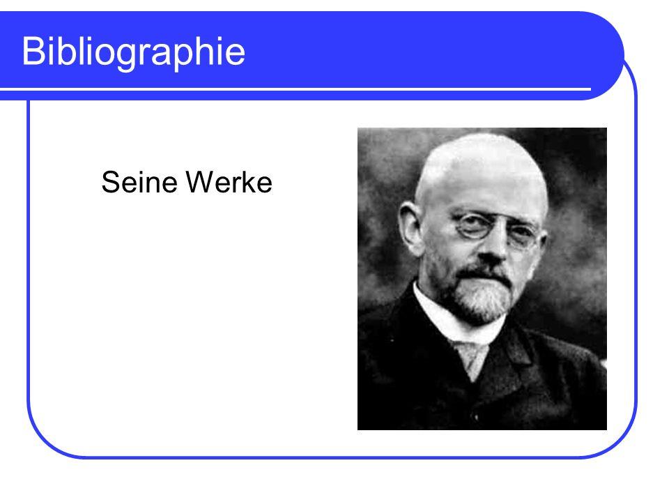 Bibliographie Seine Werke