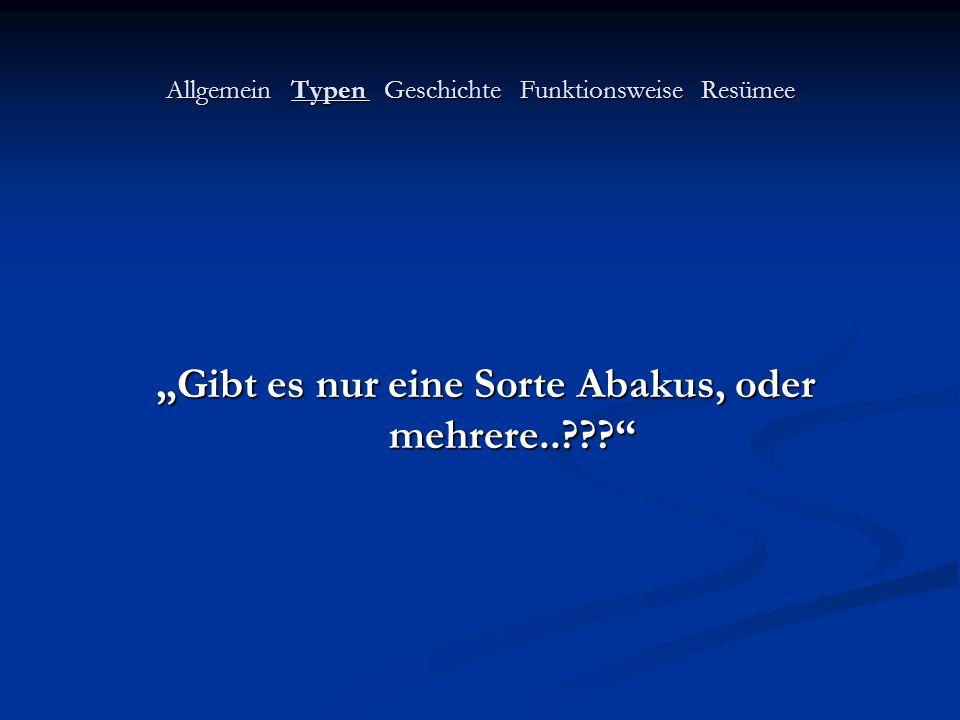 Allgemein Typen Geschichte Funktionsweise Resümee Mittelalter (~ 4-6 Jh.